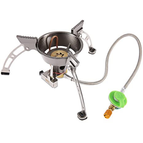 Resistente al Viento Split Gas Estufa Cocina Quemador camping calentador de cocina de estufa fuego arranque