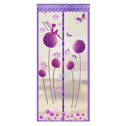 Fairylove - Mosquitera antiinsectos de mosquitos de malla resistente magnética para puerta, diseño de diente de león, ...