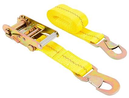 ratchet straps with safety hooks