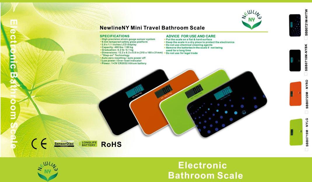 7cda51c31edd NewlineNY Digital Mini Travel Bathroom scale - Trendy Wave SBB-0721M-NYTW