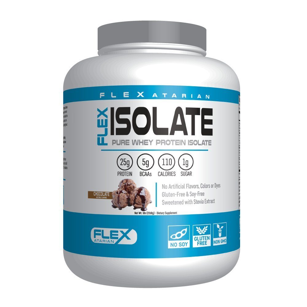 Flexatarian Flex Isolate-Whey Protein Isolate, Chocolate, 5 Lb.