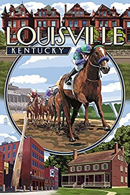 Louisville, Kentucky - Montage Scenes (12x18 Collectible Art Print, Wall Decor Travel Poster)