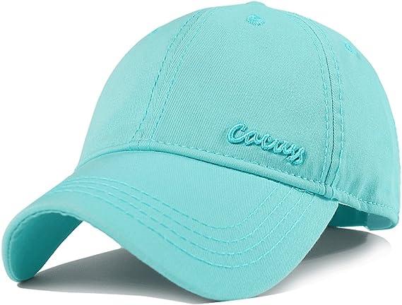 CACUSS Classic Damen Baseball Cap Verstellbar Baseballm/ütze Frauen M/ädchen Kappen Baumwolle Baseball Sports Sonnenhut