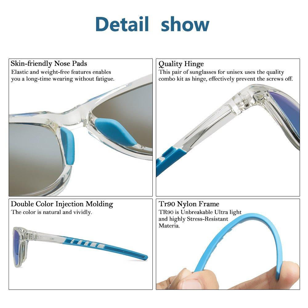 8f5ce3d1473 JOJEN Polarized Sports Sunglasses for Men Women Baseball Running Cycling  Fishing Golf Tr90 Ultralight Frame JE001