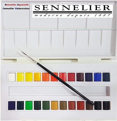 Sennelier Boite De Peinture Aquarelle En Plastique 24 Couleur Et