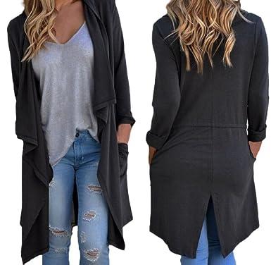342ac9f3 Usstore Women Coat Irregular Long Sleeve Cardigan Jacket Loose Outwear Tops  (S)