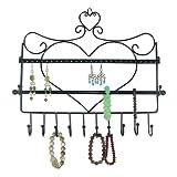 SUMERSHA Présentoir à Bijoux Porte-bijoux en Métal Forme de Coeur pour Boucle d'Oreille Bracelet collier