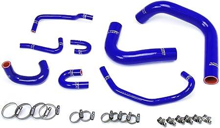 HPS Performance 57-1748-BLUE Blue Silicone Engine Oil Cooler Coolant Hose Kit 1 Pack