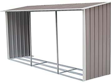 habitatetjardin Leñero para caseta metálica Dallas 15, 16 m²: Amazon.es: Jardín