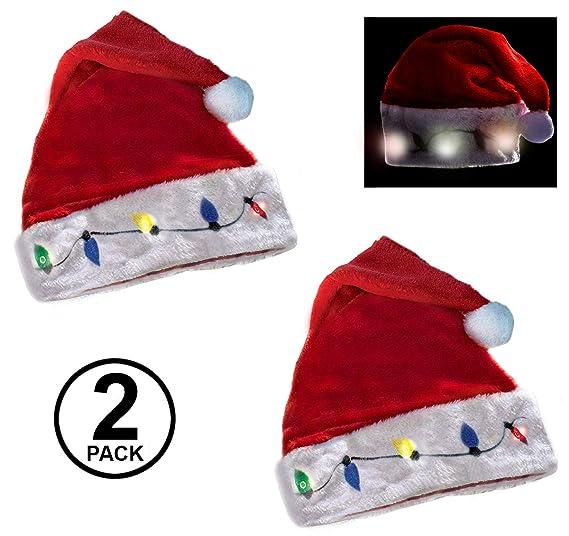 ca172edbebf0f Funny Party Hats Santa Hats - Christmas Novelty Hats - Blinking Santa Hat - LED  Blinking