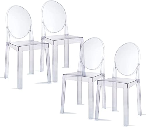 1INCHHOME Ghost Chair Dining Chairs Transparent Makeup Chair