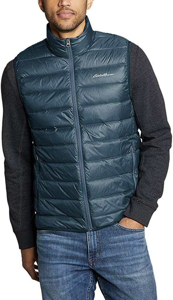 Black Tall L Eddie Bauer Mens CirrusLite Down Vest
