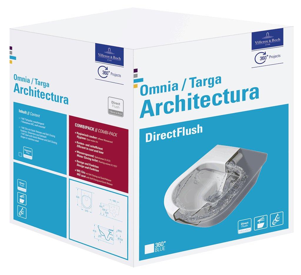 WC-Sitz Set Villeroy /& Boch Wand-WC Omnia architectura sp/ülrandlos CeramicPlus