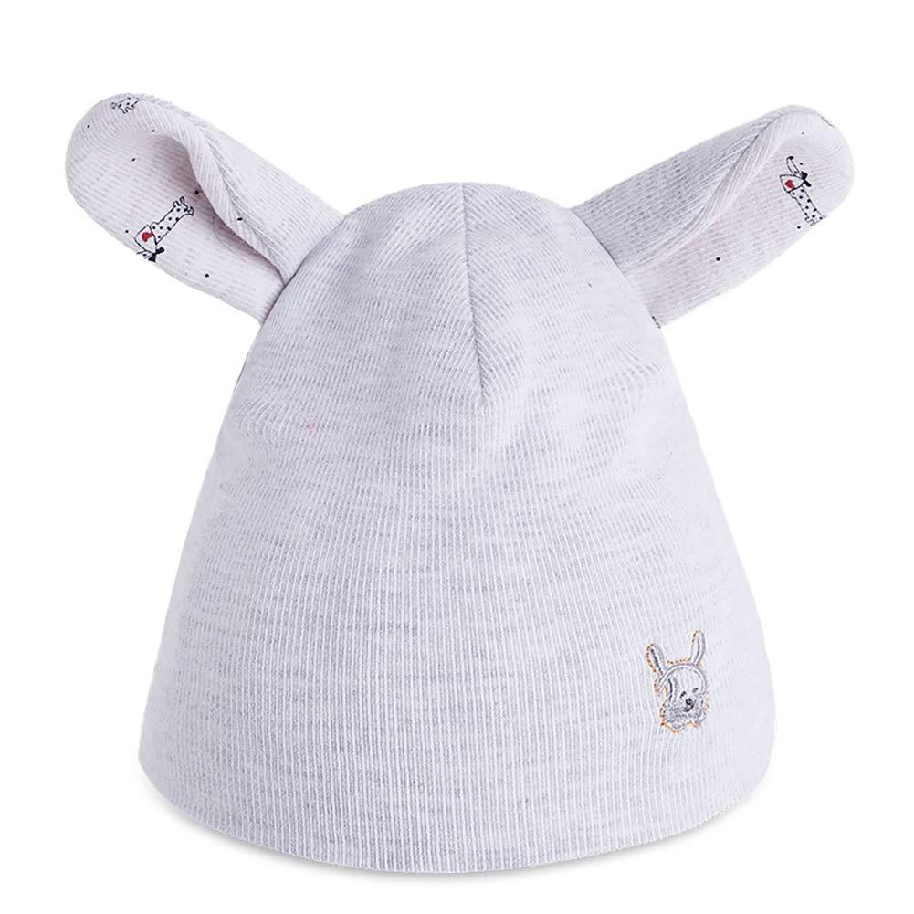 Leisial Chapeau pour Bébé Unisexes pour 0 à 3 Mois en Coton Forme des Oreilles  de Lapin Couvre-Chef Bonnet Fœtal Bonnet Nouveau-né Chapeau Chaud(Bleu ... 18e16fe13b0