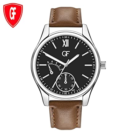 Amazon.com : XBKPLO Quartz Watches Men Sports Leisure Pointer Luminous Leisure Numerals Analog Mechanical Wrist Watch Leather Strap : Pet Supplies