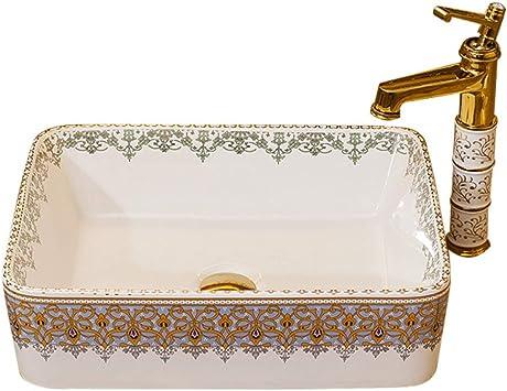 ramasser en présentant achat spécial Vasque carré en céramique pour salle de bain - Modèle Basin ...