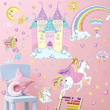 35 Little Unicorns Stars Wall Window Car Laptop Stickers Vinyl Kids Girl Bedroom