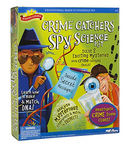 Scientific Explorer Crime Catchers Spy Science Kit for mystery solvers.