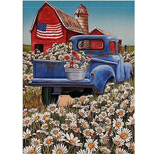 -  AIUSD Clearance , Flower Welcome Garden Flag 12.5 x 18inch Daisy Garden Yard Flower Decorations
