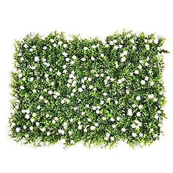 Kunstliche Hecke Mit Blumen Gefalschte Hecke Pflanzer Faux Zaun Matte Privatsphare Bildschirme Landschaftsbau Grun Panel Kulisse Wanddekoration