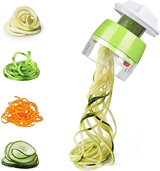 Spiral Slicer Vegetable Spiralizer Zucchini Spaghetti Pasta Noodle Maker Cutter