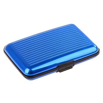 Lumanuby 1X Porte-Cartes Carte Bleue CB Visite Aluminium Rigide Secutity Credit Card Wallet Holder Argent Uk1g495