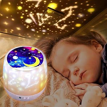 RUMIA LED Sternenlicht Projektor Projektionslampe Kinder Rotierende Sternenprojektor mit Fernbedienung Nachtlicht f/ür Kinder Geburtstagsfeiern Sternenhimmel Projektor Hochzeit Party Dekoration
