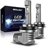 SEALIGHT H11 H8 H9 LED Headlight Bulbs Low Beam Headlight Bulb 7200lm Extremely Bright 6000K Xenon White(pack of 2)