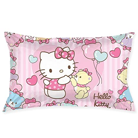 Amazon.com: Fundas de Almohada Hello Kitty con Oso Manta ...