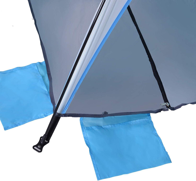 Outsunny Tente de Plage abri de Plage Pliable Sac Transport inclu Polyester