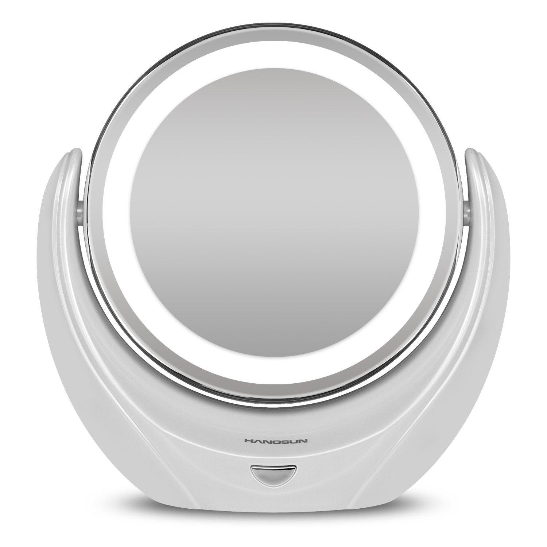 Hangsun specchio da trucco led specchio ingranditore cosmetico illuminato 5 x ebay - Specchio trucco illuminato ...
