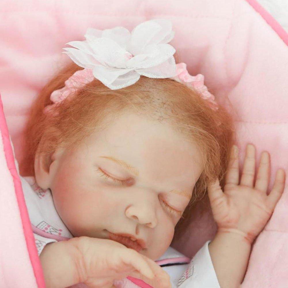 QXMEI Baby Doll Puppe Hart Simulation Silikon Vinyl 50cm Lebensechte Wasserdicht Baden Junge Mdchen Spielzeug Girl,50cm  50cm