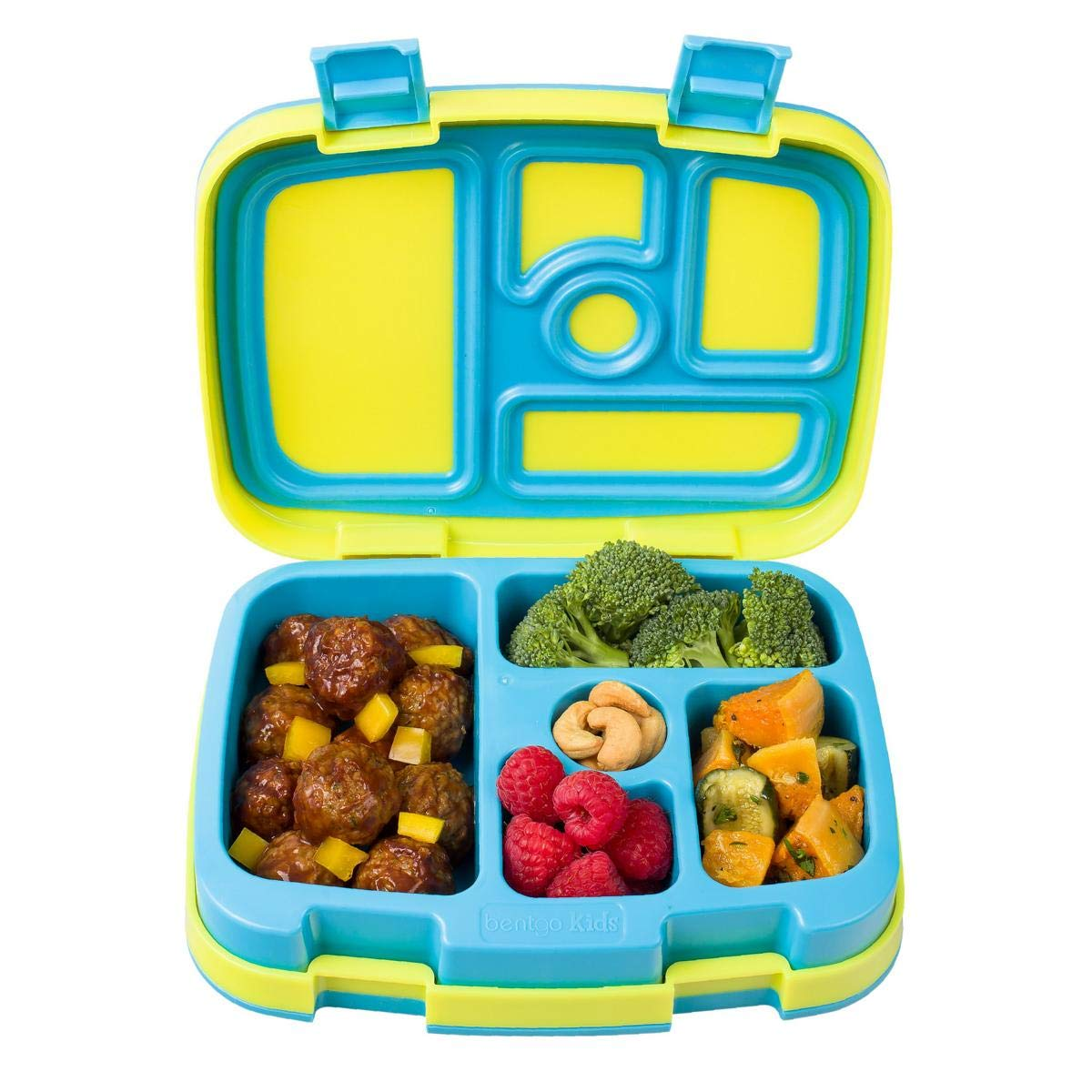Bentgo Kids Brights - Leak-Proof, 5-Compartment Bento-Style Kids Lunch Box - Ideal Portion Sizes for Ages 3 to 7 - BPA-Free and Food-Safe Materials (Citrus Yellow) BGOBRTS-C