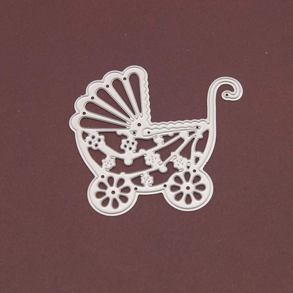 Baby Carriage Dies Cut for Card Making BREAORTION Baby Carriage Metal Embossing Cutting Dies Stencil Template Mould for DIY Craft Scrapbooking Paper Photo Album Decoration