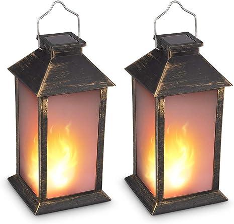 New Design Black Retro Hanging Solar Lantern