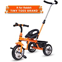 R for Rabbit Tiny Toes Grand Baby/Kids Cycle - Smart Plug & Play Baby Tricycle for Kids/Baby for 1.5 to 5 Years (Orange)