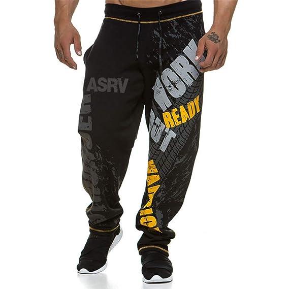 Hombres Pantalones De CháNdal Sueltos Impreso Suave Relajado ...