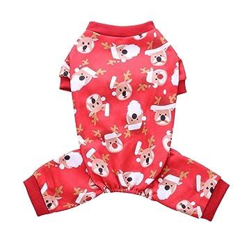 YouN Funny Dog Clothes Navidad Navidad Traje de Cuatro Patas Cachorro Ropa (L): Amazon.es: Productos para mascotas