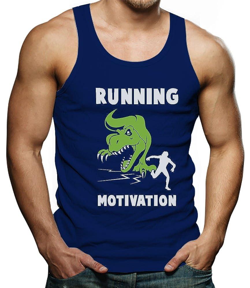Running Motivation T-Rex Dinosaur Raptor Funny Runners Singlet TeeStars