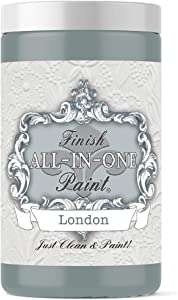 London (Green Gray), Finish All-in-One Paint 32oz Quart