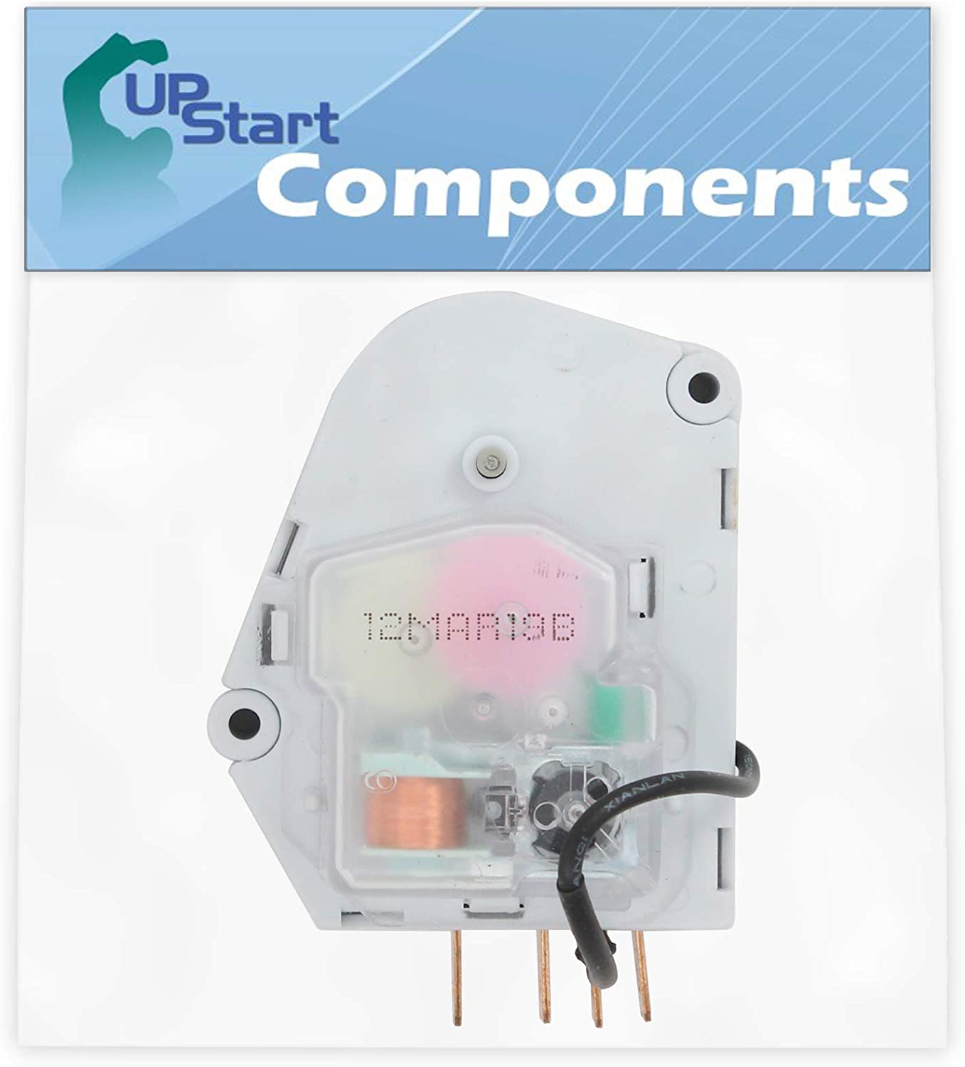 W10822278 Refrigerator Defrost Timer Replacement for Whirlpool ET1CHMXKQ03 Refrigerator - Compatible with 482493 Defrost Timer - UpStart Components Brand
