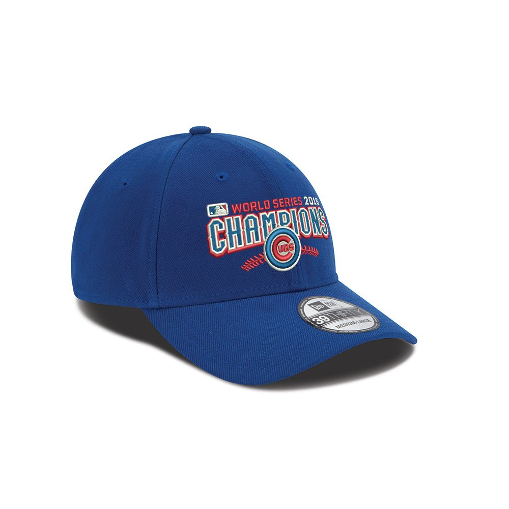 9a920c9978d Amazon.com   New Era Chicago Cubs World Series Champs 39THIRTY Circle Hat  Cap   Sports   Outdoors