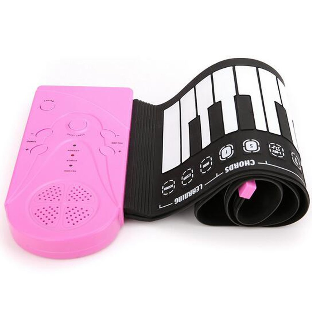Portable Electronic Piano Keyboard with Full 49 Soft Responsive Keys Universal Soft Roll Up Piano by E Support (Image #4)
