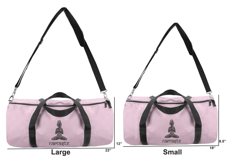 YouCustomizeIt Lotus Pose Duffel Bag Personalized Multiple Sizes