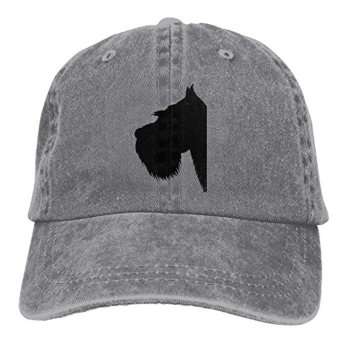Baseball Cap Schnauzer - Adjustable Trucker Hat Cotton Denim, DanLive Schnauzer ()