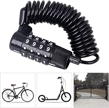 Candado Bicicleta alta Seguridad,Bloqueo de Combinación para ...