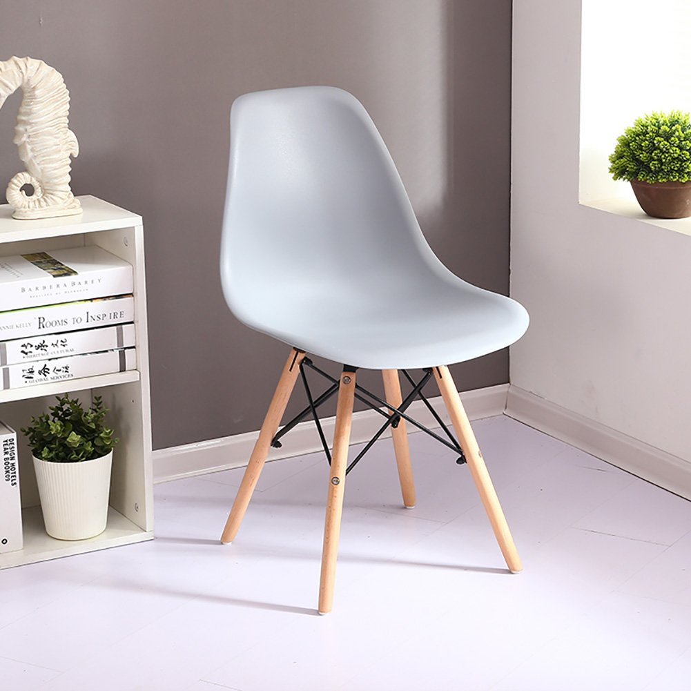 ALUS- Eiffel Style Solid Wood Dining Chairs,PP Materials Living Room Office Espresso Backrest Chairs