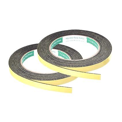 sourcingmap Cinta de Sellado /Única de Espuma Adhesiva Para Ventana de Puerta 4M 25mm X 3mm Lateral