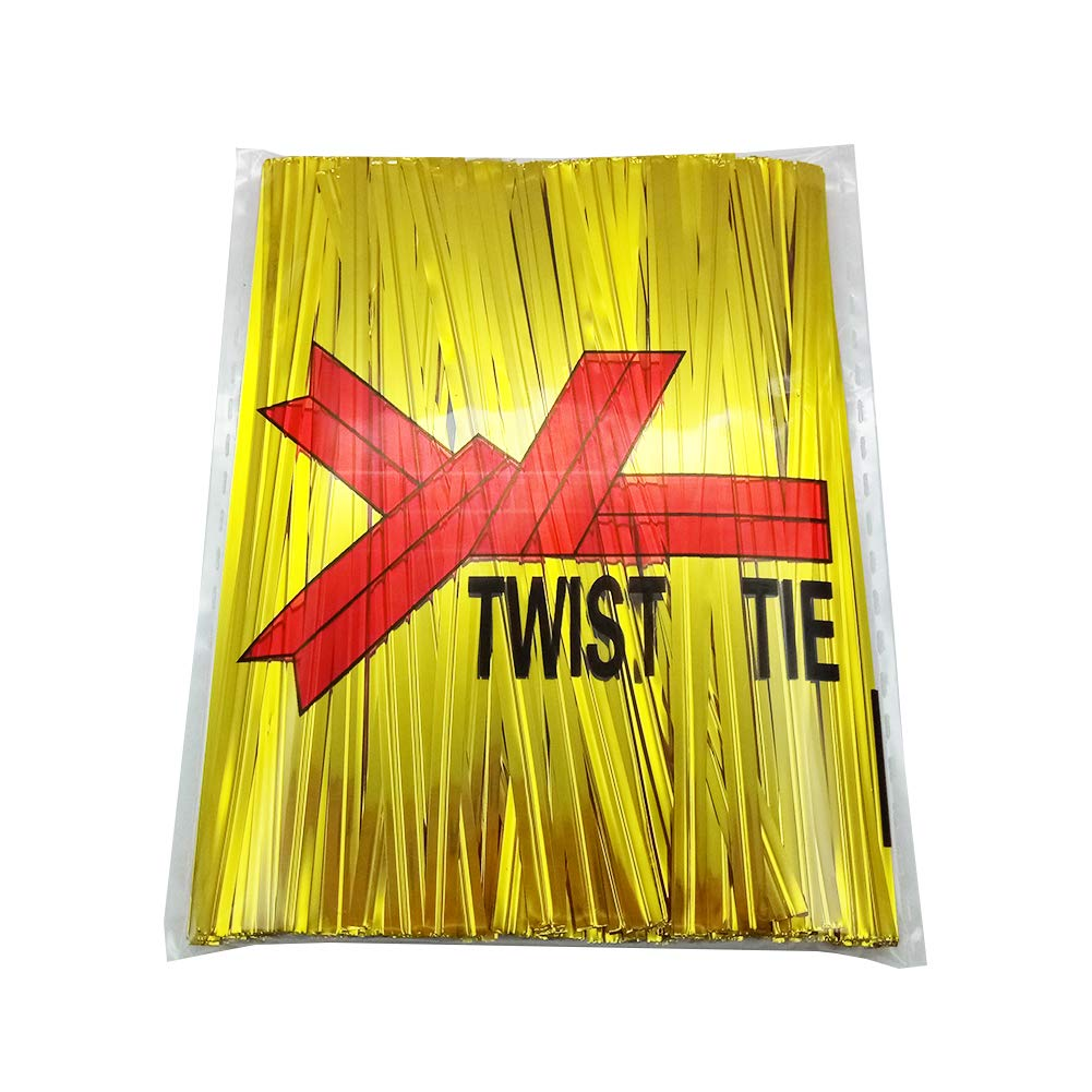 Black H-Laner Bread Bags Tie 400Pcs 4 Metallic Twist Ties