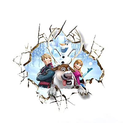 Salemor Frozen Elsa Anna Olaf Sven Headboard Peel and Stick Giant Wall Art Decals Removable Vinyl Wall Stickers for Kids Rooms Nursery School(6090cm Style4): Arts, Crafts & Sewing
